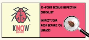 Inspection checklist for bedbugs in hotels