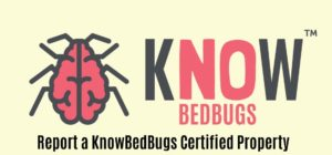 KnowBedBugs report a hotel logo